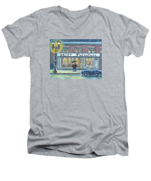 Griff Valentines' Birthday Men's V-Neck T-Shirt by Rita Brown