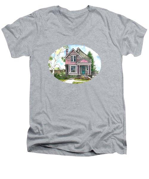 The Violet Lady In Spring Men's V-Neck T-Shirt