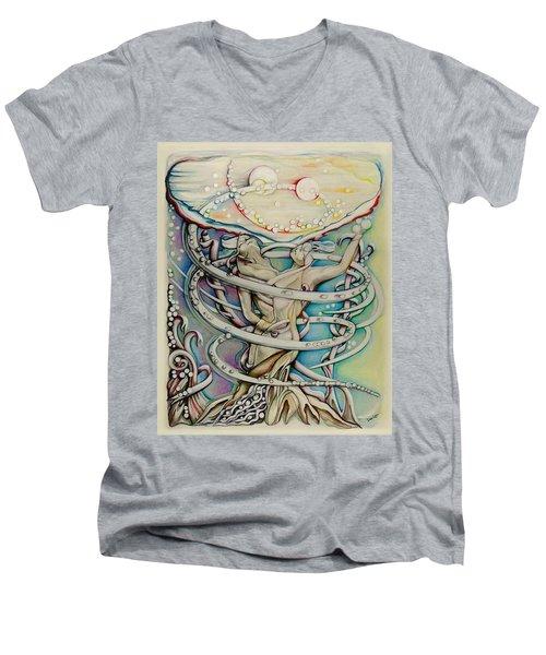 En L'air Par Terre Men's V-Neck T-Shirt
