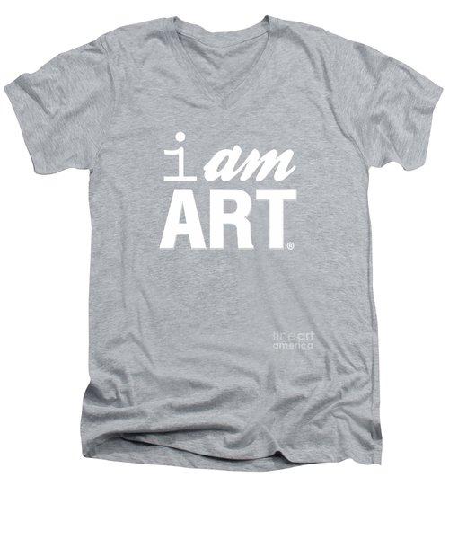 Men's V-Neck T-Shirt featuring the digital art I Am Art- Shirt by Linda Woods