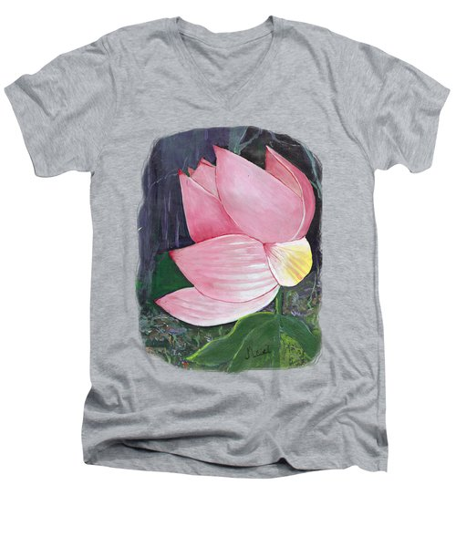 Pink Petals Men's V-Neck T-Shirt