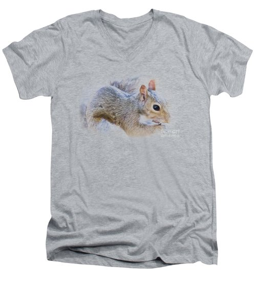 Another Peanut Please - Squirrel - Nature Men's V-Neck T-Shirt by Barry Jones