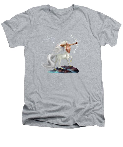 Mystical Sagittarius Men's V-Neck T-Shirt