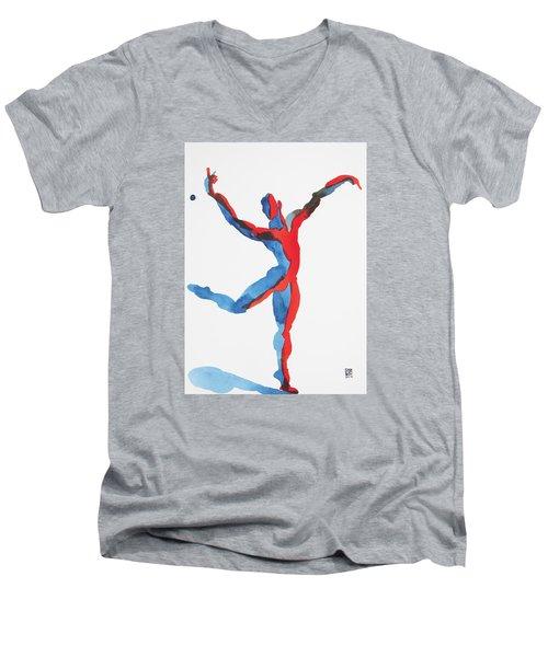 Ballet Dancer 3 Gesturing Men's V-Neck T-Shirt