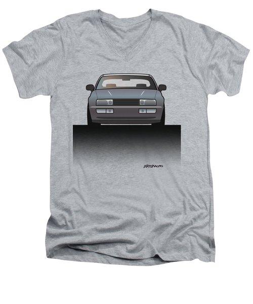 Modern Euro Icons Series Vw Corrado Vr6 Men's V-Neck T-Shirt by Monkey Crisis On Mars