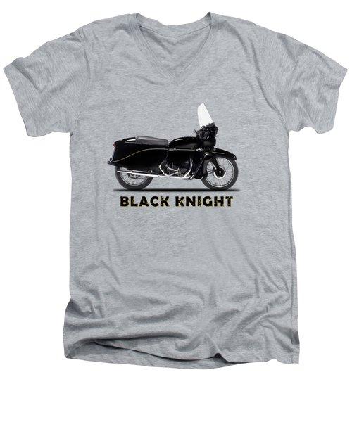 Vincent Black Knight Men's V-Neck T-Shirt
