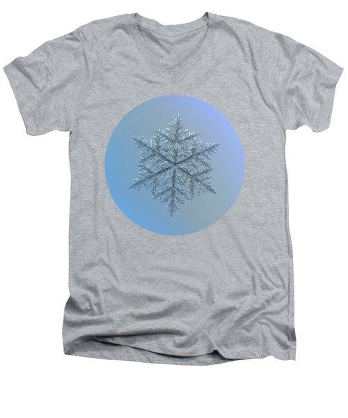 Snowflake Photo - Majestic Crystal Men's V-Neck T-Shirt