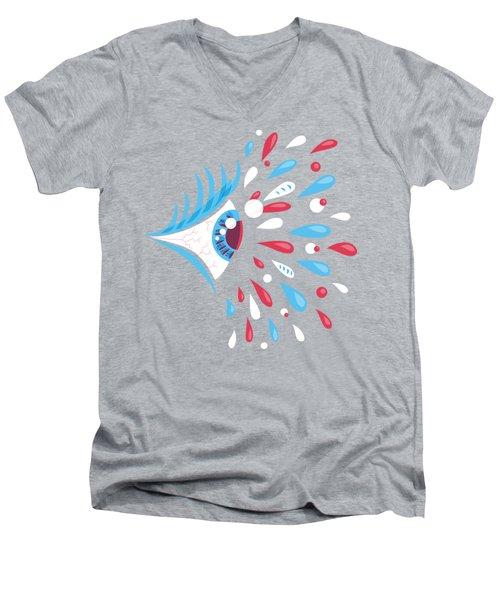 Psychedelic Eye Men's V-Neck T-Shirt by Boriana Giormova