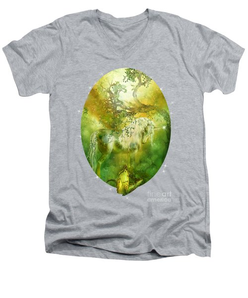 Unicorn Of The Forest  Men's V-Neck T-Shirt