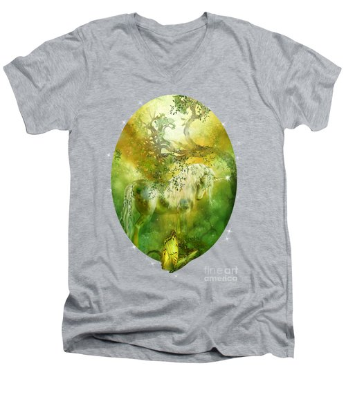 Unicorn Of The Forest  Men's V-Neck T-Shirt