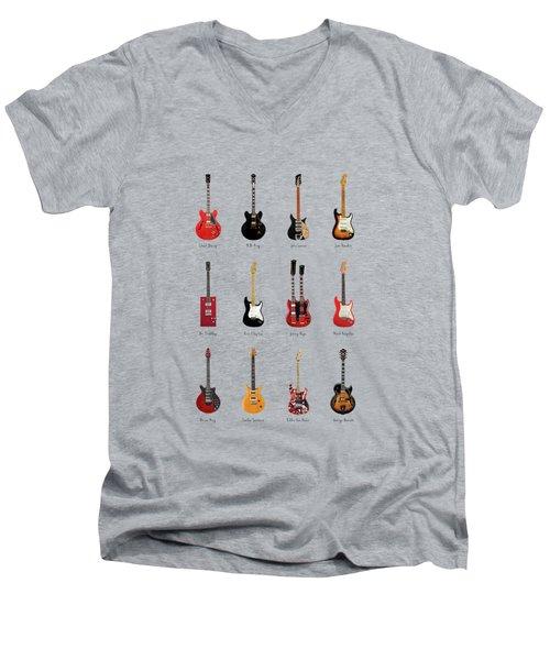 Guitar Icons No1 Men's V-Neck T-Shirt