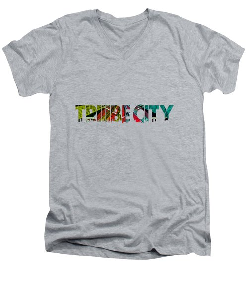 Tribe Lives Men's V-Neck T-Shirt by Chief Hachibi