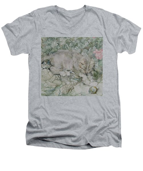 Playful Kitten Men's V-Neck T-Shirt