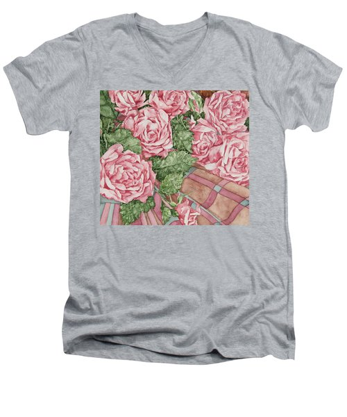 Love Of Roses Men's V-Neck T-Shirt