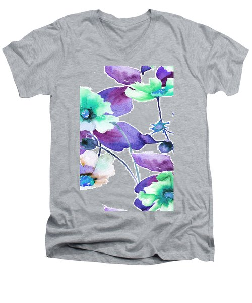 Flowers 01 Men's V-Neck T-Shirt