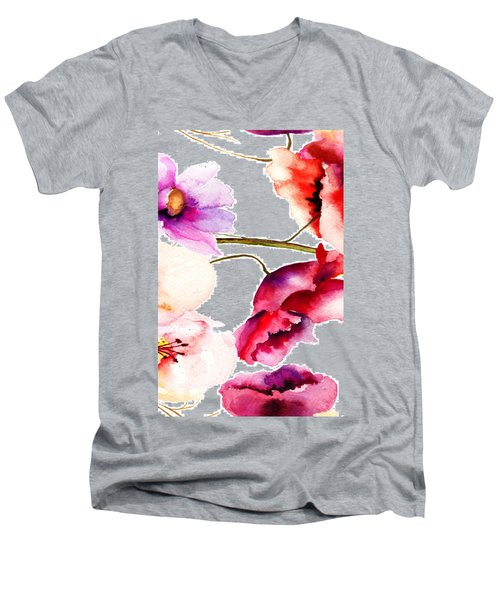Flowers 02 Men's V-Neck T-Shirt