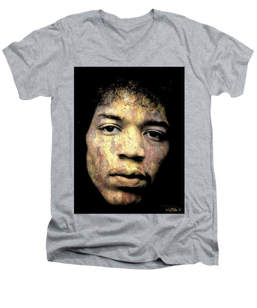 Jimi Hendrix Men's V-Neck T-Shirt