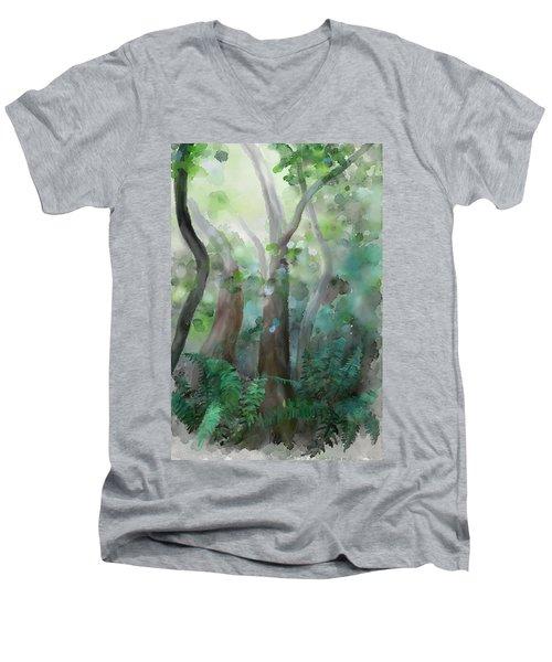 Jungle Men's V-Neck T-Shirt by Ivana Westin