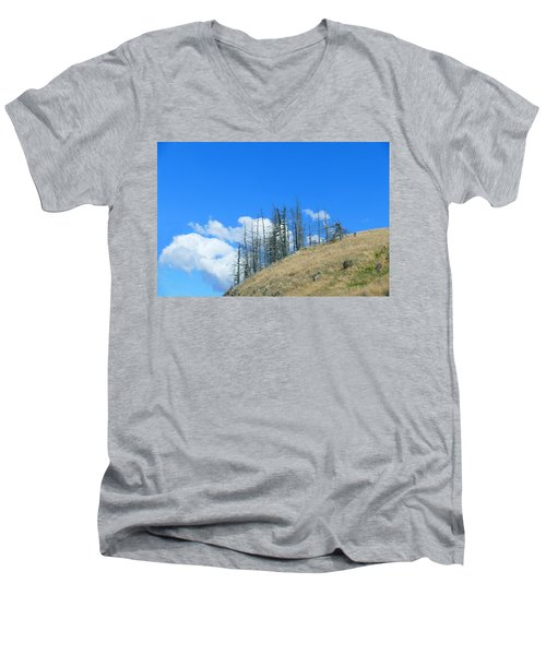 Men's V-Neck T-Shirt featuring the photograph At The End Of The World by Ivana Westin