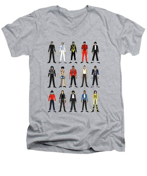Outfits Of Michael Jackson Men's V-Neck T-Shirt