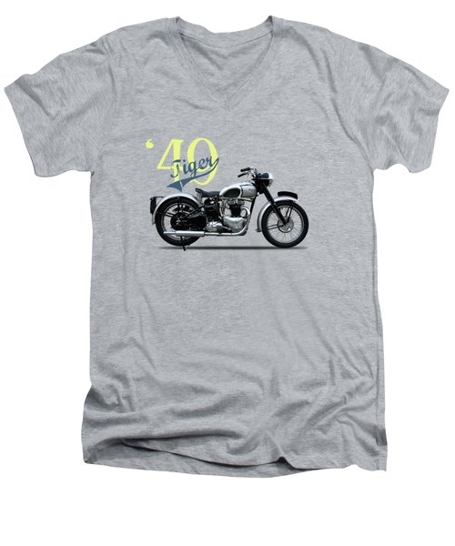 The Tiger 100 1949 Men's V-Neck T-Shirt