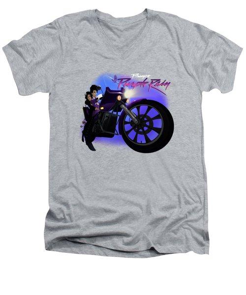 I Grew Up With Purplerain 2 Men's V-Neck T-Shirt