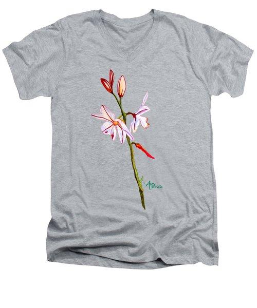 A Single Lily Men's V-Neck T-Shirt