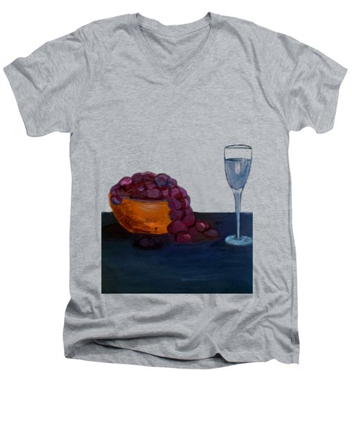 Grapes And Water Men's V-Neck T-Shirt