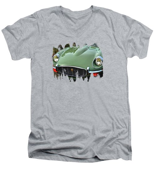 Mint Jaguar Men's V-Neck T-Shirt