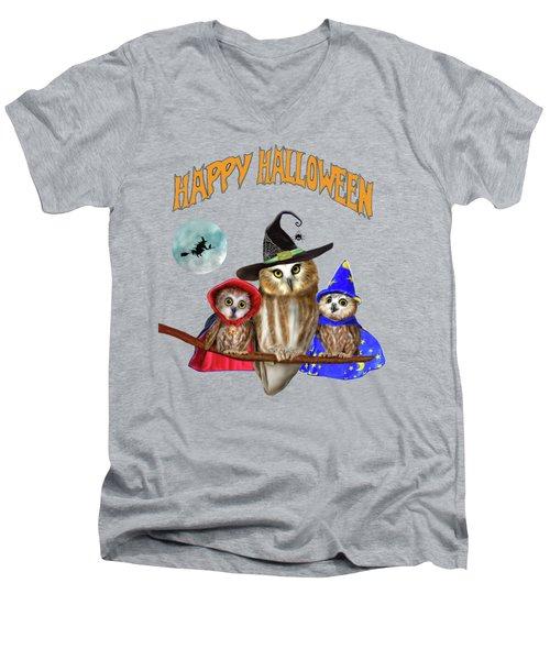Happy Halloween From Owl Of Us Men's V-Neck T-Shirt
