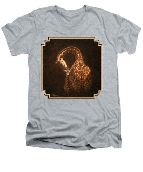 Love's Golden Touch Men's V-Neck T-Shirt by Crista Forest