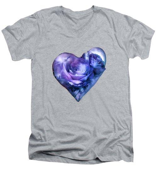 Heart Of A Rose - Lavender Blue Men's V-Neck T-Shirt