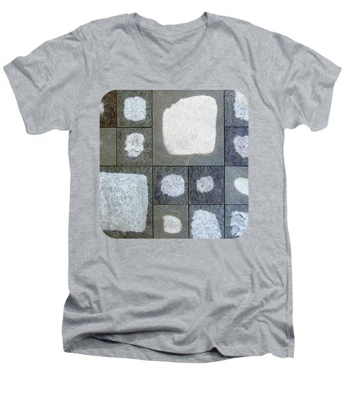 Men's V-Neck T-Shirt featuring the photograph While We Were Having Lunch It Rained by Ethna Gillespie