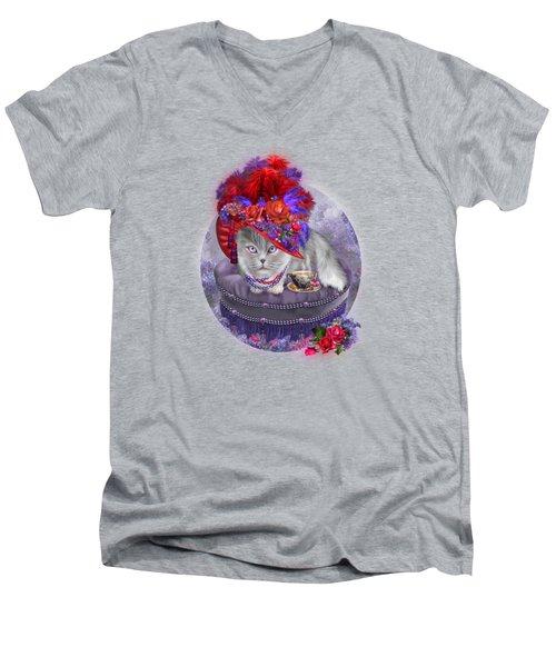 Cat In The Red Hat Men's V-Neck T-Shirt