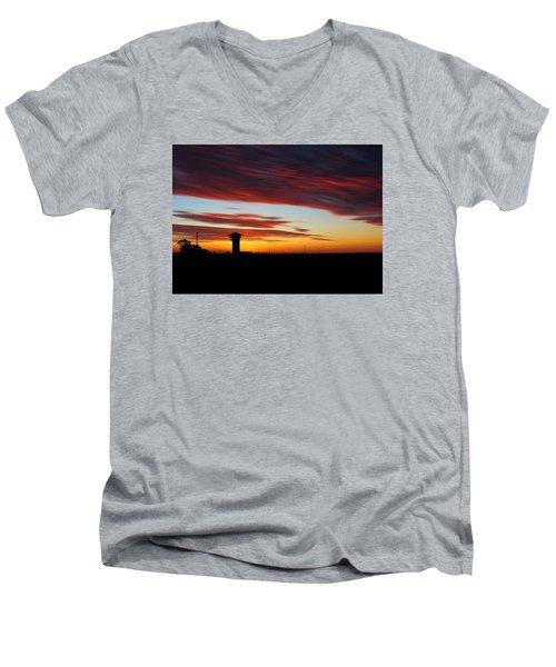 Sunrise Over Golden Spike Tower Men's V-Neck T-Shirt