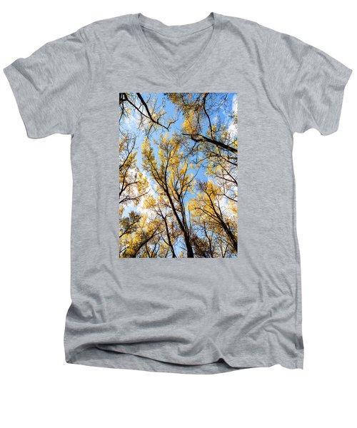 Looking Up Men's V-Neck T-Shirt by Bill Kesler