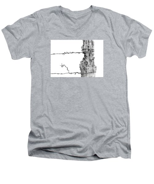 Post With Character Men's V-Neck T-Shirt by Bill Kesler