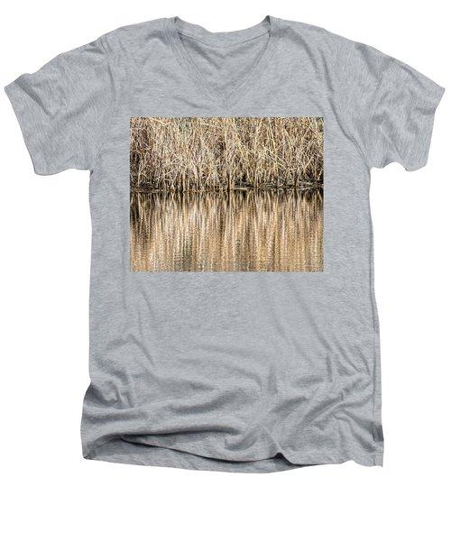 Golden Reed Reflection Men's V-Neck T-Shirt