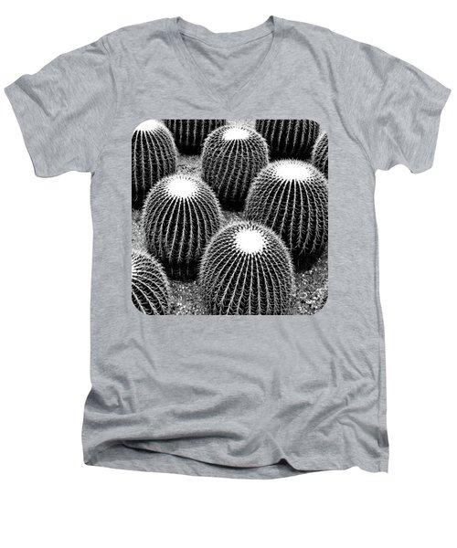 Cacti Men's V-Neck T-Shirt by Ethna Gillespie