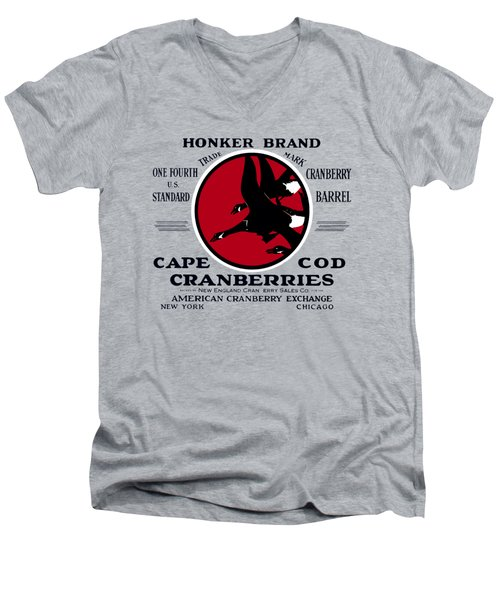 1900 Honker Cranberries Men's V-Neck T-Shirt by Historic Image