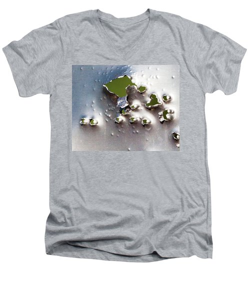 Dimpled And Ripped Men's V-Neck T-Shirt