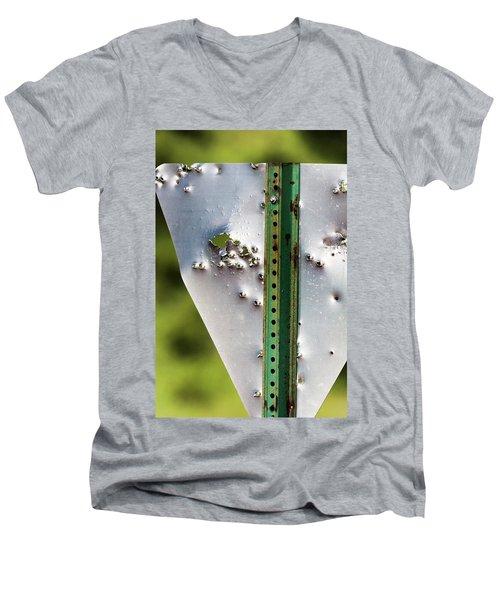 Bullet Hole Yield Men's V-Neck T-Shirt