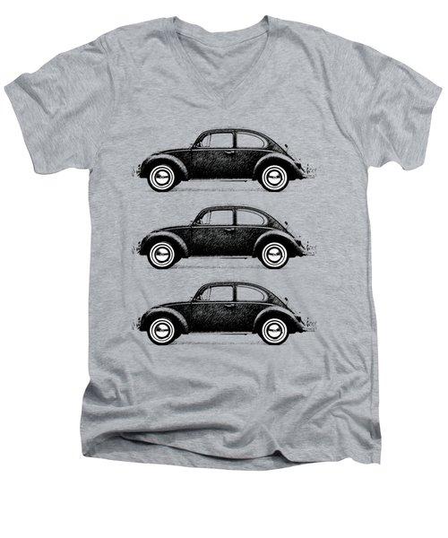 Think Small Men's V-Neck T-Shirt by Mark Rogan