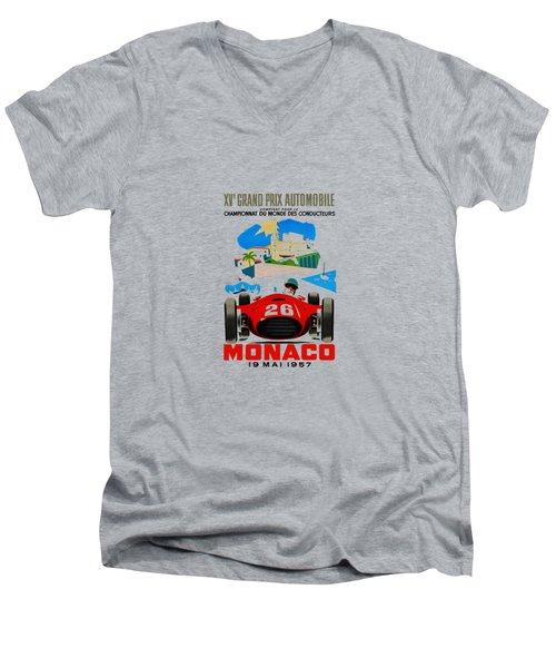 Monaco 1957 Men's V-Neck T-Shirt