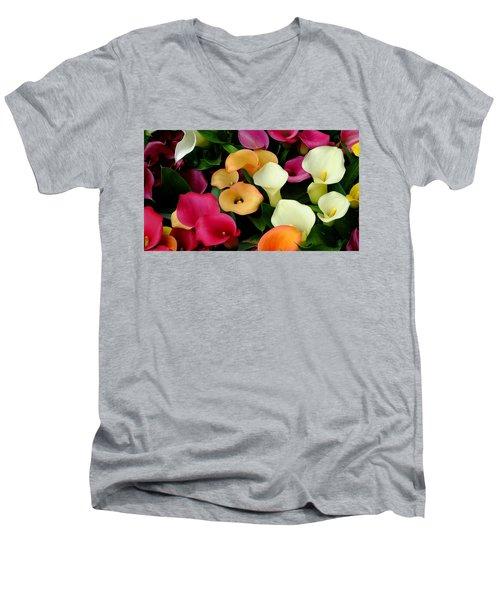 Arum Lilies Men's V-Neck T-Shirt