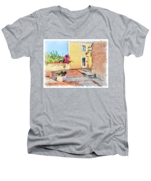 Arzachena Foreshortening Men's V-Neck T-Shirt
