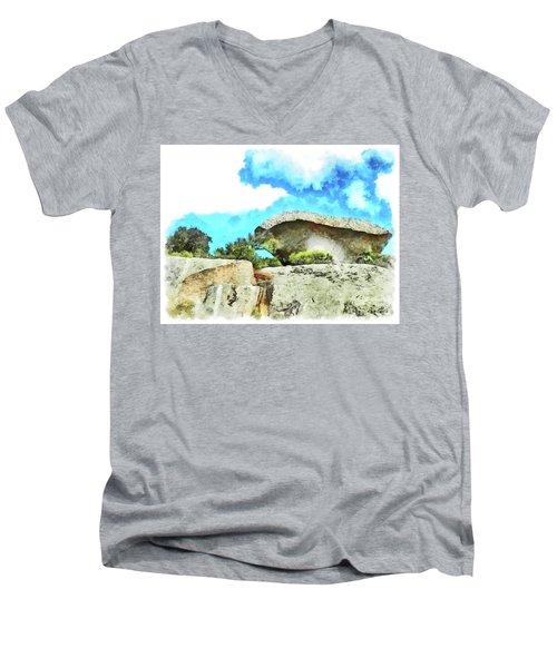Arzachena Mushroom Rock Men's V-Neck T-Shirt