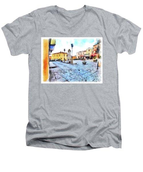 Arzachena Risorgimento Square Men's V-Neck T-Shirt