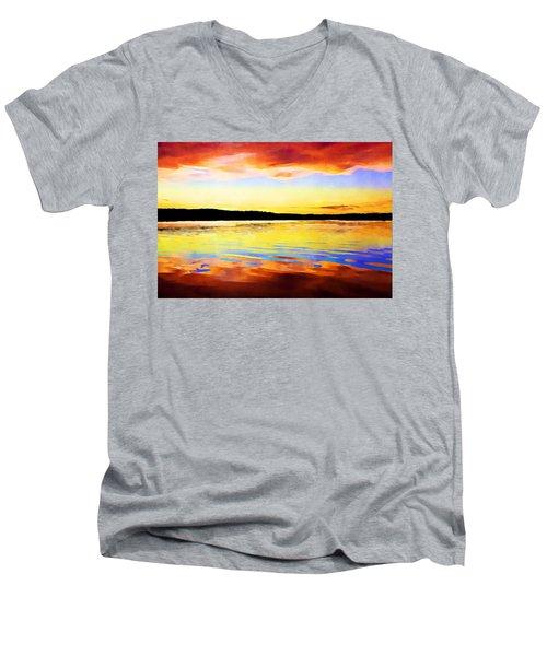 As Above So Below - Digital Paint Men's V-Neck T-Shirt
