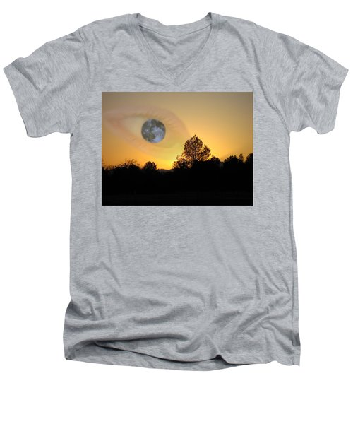 Men's V-Neck T-Shirt featuring the photograph As I See It by Joyce Dickens